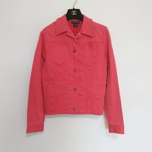 Signature Hot Pink Cute Jean Denim Jacket